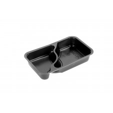 Comple® 2-osainen ateriarasia 1/4 GN musta