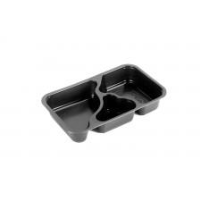 Comple® 3-osainen ateriarasia 1/4 GN musta