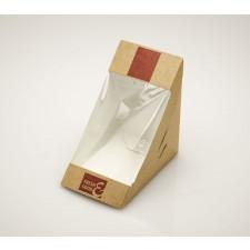 Fredman kartonkinen kolmioleipäkotelo 78mm, kuvioitu, käsin suljettava