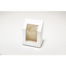 Tortilla box, käsinsuljettava, valkoinen