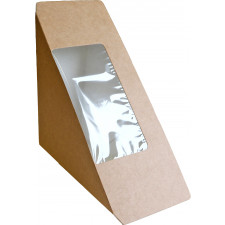 Fredman kartonkinen kolmioleipäkotelo 55mm, ruskea, saumattava