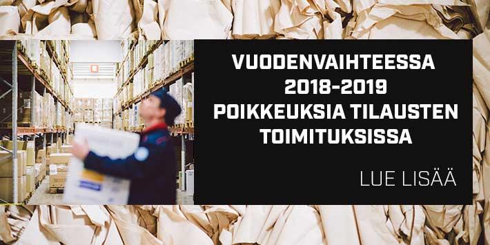 Poikkeusaukioloajat 2018-2019